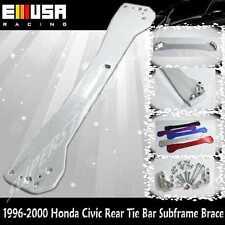 EMUSA 1996-2000 Honda Civic Rear Tie Bar Subframe Brace EK LX DX EX SI  SILVER