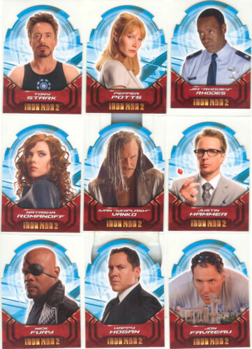 "Iron Man 2 ""Actors DieCut Cards"" Set of 9 Chase Cards #AH19"