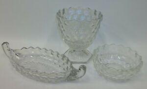 Lot-3-Vintage-Assorted-American-Fostoria-Glass-Excellent
