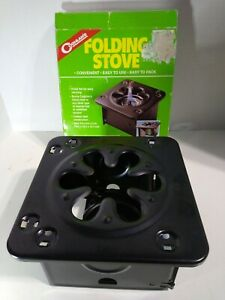 coghlans folding stove, ( canned fuel not included). Great for camping. (C751)