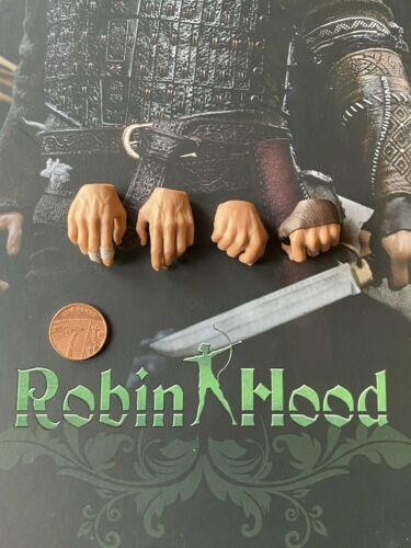 POP Toys EX21 Robin Hood Hands x 4 loose 1//6th scale