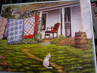 300 Piece John Sloane Art Puzzle summer Place Large Format 18x 24