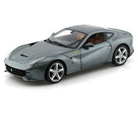 Hot Wheels Bcj74 Ferrari F12 Berlinetta 1:18 Diecast Model Car Grey
