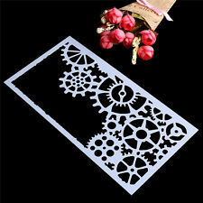 Lace Gear Baking Mold Mould Sugar Craft Fondant Mat Cake Stencil Decorating Tool