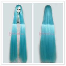 Tangled 150cm Extra Supper Long Straight Sky-blue Cosplay Party Wig ZY50I+Comb