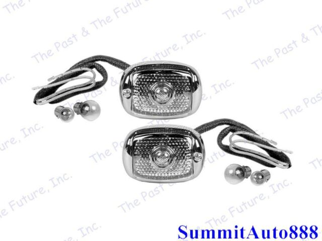 chevy pickup pu truck tail lamp light w   chrome bezel r u0026l pair 2pcs cptl4053