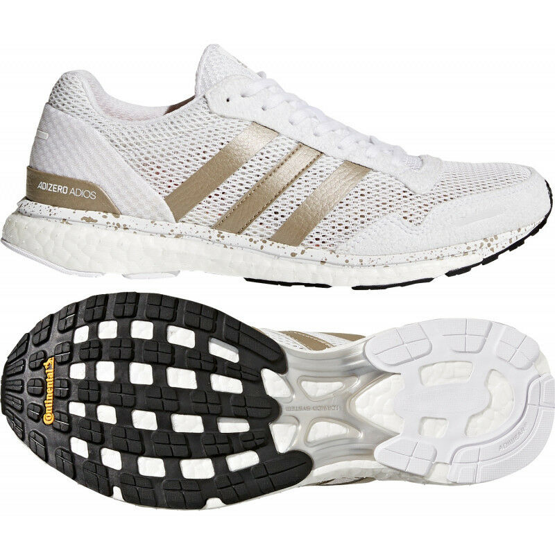 ADIDAS Adizero Adios W, Women's Sizes 8-8.5-9-9.5 Medium, White gold BB6409 NEW