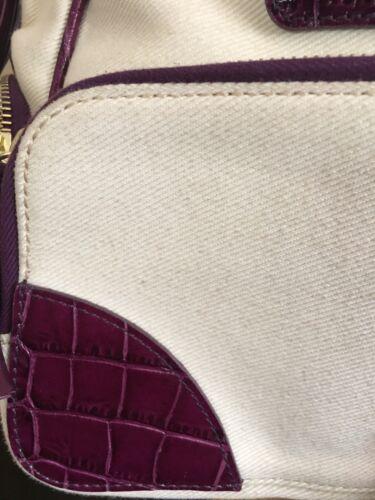 main de avec Londres en de Authentique Aspinal reptile luxe de peau toile sac à E8qAw047
