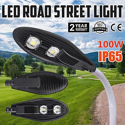 100W LED Road Street Flood Light Garden Yard Security 6000-6500K Pathway Farm