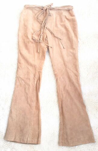 Leather Pants Joe Boxer Genuine Vintage Laced Flar