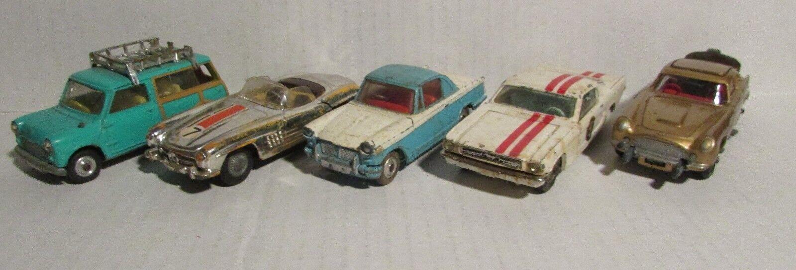 1960 s CORGI Astin Martin Herald COUPÉ 300 SL Mustang 2+2 Austin Mini Countryman