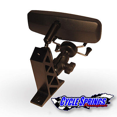 MIRROR & CELL PHONE HOLDER KIT WITH MOUNTING BRACKET THAT FITS POLARIS SLINGSHOT