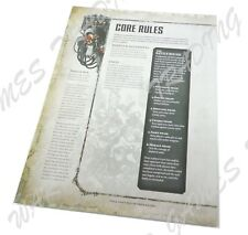 Warhammer 40K 8th Ed Core Rules Reference - 8pg Fold-Out Rulebook Dark Imperium
