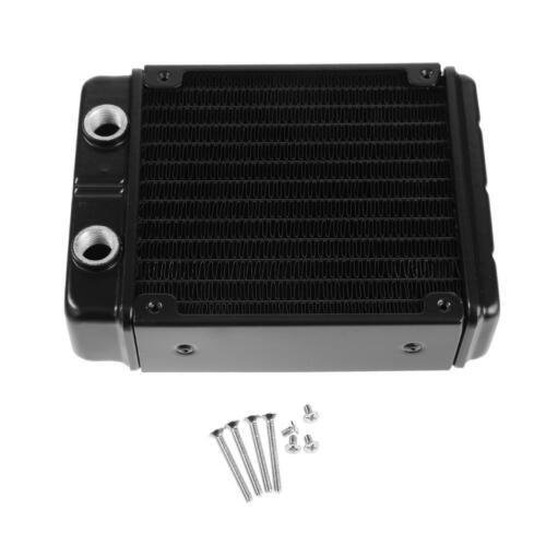 24-Tube G1//4 Thread CPU Fans Water Cooling Cooler Radiator Double Heatsink 120mm