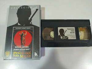 James-Bond-007-Panorama-para-Matar-Roger-Moore-VHS-Espanol