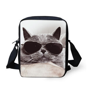 aef18e834fcf Cool Cat Message Bag Grey Sling Bags Women Shoulder Purse Small ...
