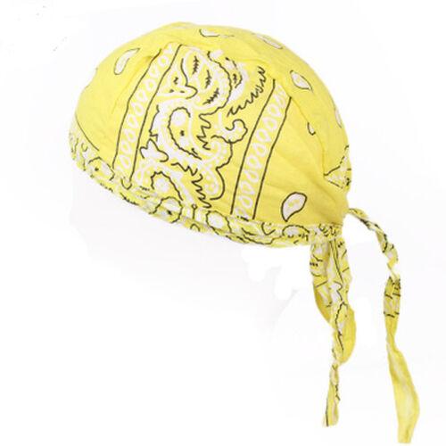 Unisex Head Wrap Tie Back Bandana Hat Pirate Scarf Outdoor Biker Cycling Cap