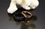 2-Anello-Coppia-Fedi-Fede-Fedine-Fidanzamento-Nuziali-Oro-Cuore-Cristallo miniatura 3