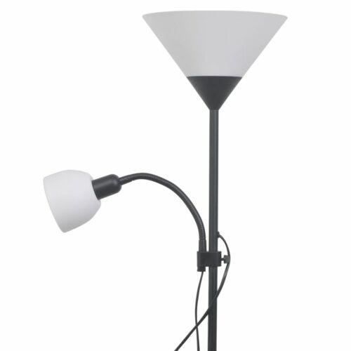 vidaXL Deckenfluter Schwarz Stehlampe Stehleuchte Standleuchte Lampe Leuchte