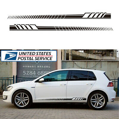 1Pair Racing Car Graphics Both Side Body Vinyl Long Stripe Decal Sticker Styling
