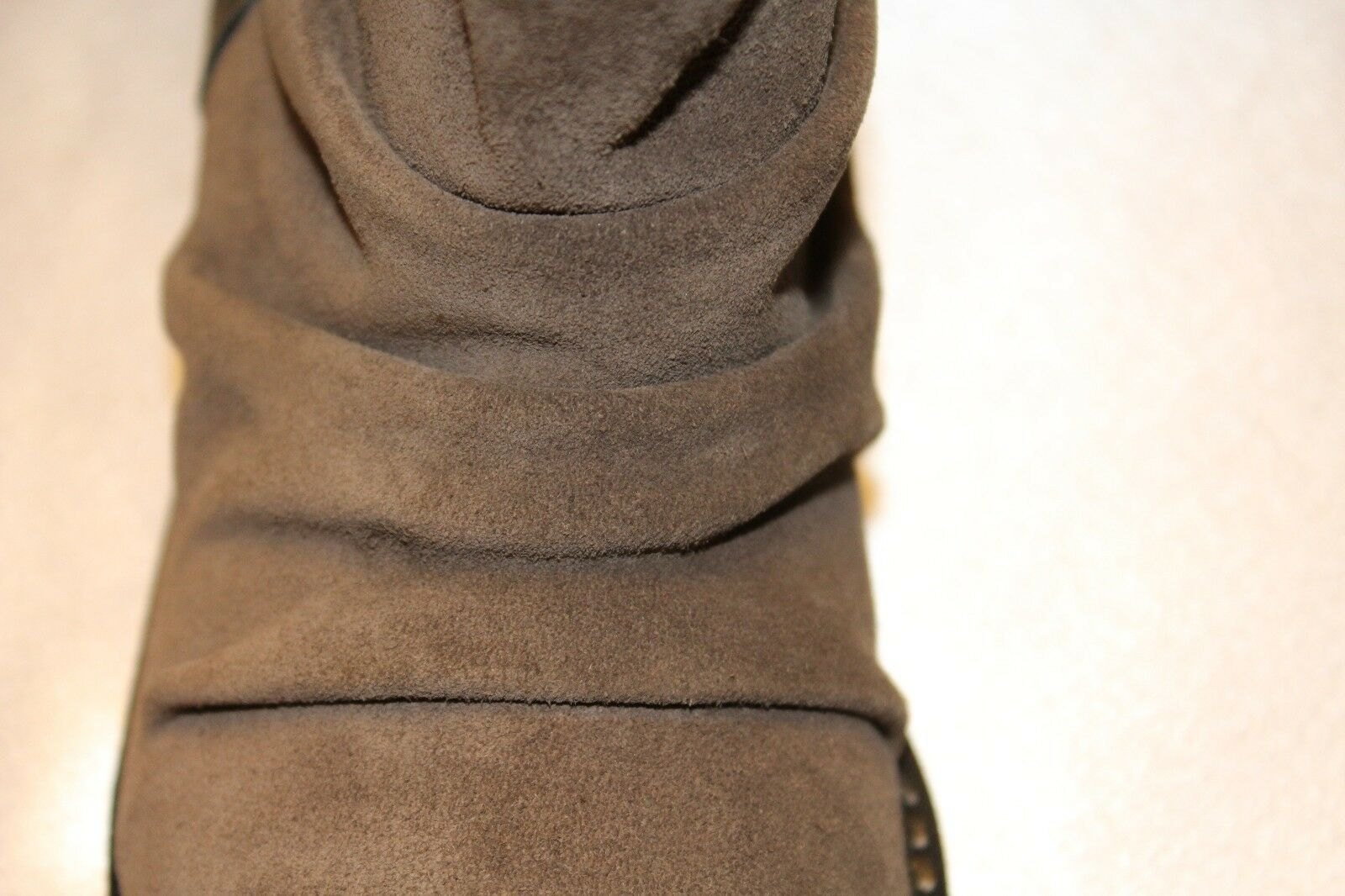 NEU  NIB  JOES JEANS Ruched Taupe Suede JANETTE Pull On Ankle Stiefel 5.5 245