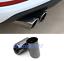 Black titanium Car Rear Exhaust Muffler Tip End Pipe For Audi A3 8V 2014-2018