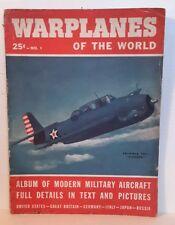 1943 Warplanes of World WW2 Pulp Magazine #1- 98 Pages w photos-FREE S&H (M3516)