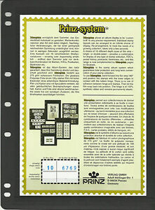 PRINZ-FDC-BLACK-STAMP-ALBUM-STOCK-SHEETS-Pack-of-10-with-3-different-Pockets