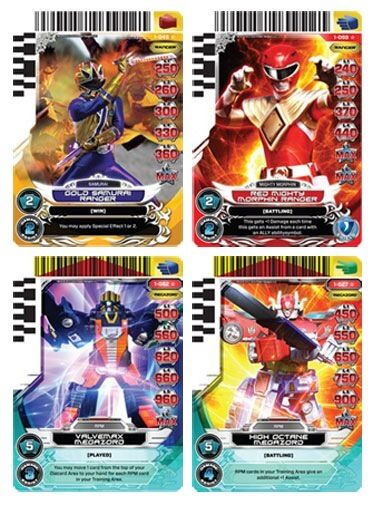 POWER RANGERS ACG : RISE OF HEROES COMPLETE 85-CARD SET NO UR