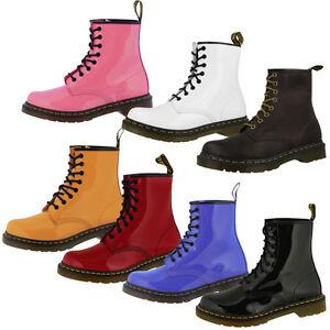 DR-DOC-MARTENS-1460-WOMEN-BOOTS-8-LOCH-DAMEN-STIEFEL-PATENT-LEDER