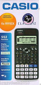 Casio-FX-991EX-Black-Scientific-Calculator-FX-991-EX-552-Functions-Classwiz-New