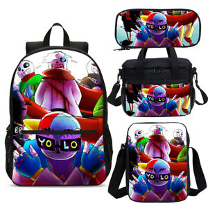 Undertale Au Fresh Sans Kids Backpack School Lunch Bag Shoulder Bag Pen Case Lot Ebay