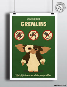 Picture A3 A4 Size Gremlins 2 Movie Film Poster Print