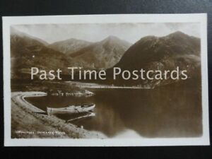 c1915-RPPC-039-SOLITUDE-039-Crummock-Water-Cumbria-showing-rowing-boat-on-shore