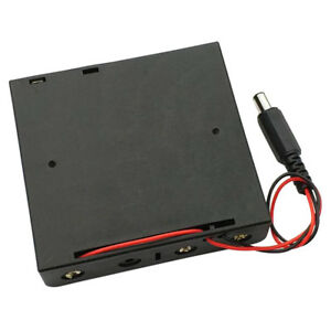 18650-Battery-Holder-Plastic-Case-Storage-Box-Black-With-Wire-DC-power-plug