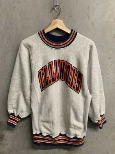Vintage University Of Illinois Sweatshirt Reverse