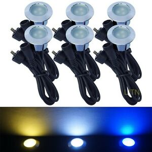 Pack Of 6 Low Voltage Led Deck Light Kit Waterproof