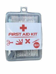 First Aid Kit 18 Piece Travel/ Mini Size, New