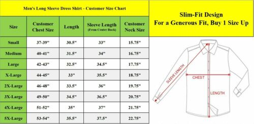 Mens Long Sleeve Dress Button Down Causal Shirt Fancy Solid Slim Fit Color NEW