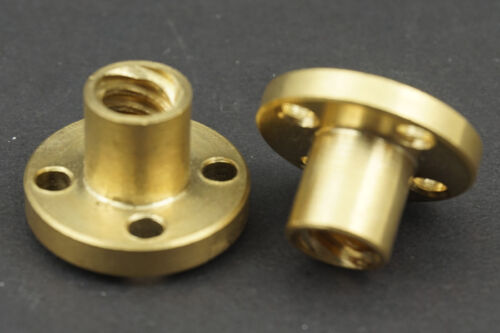 Brass Flange Router Shaft Linear Bushing Bearings for 3D printer,OD8mm//Pitch 2mm