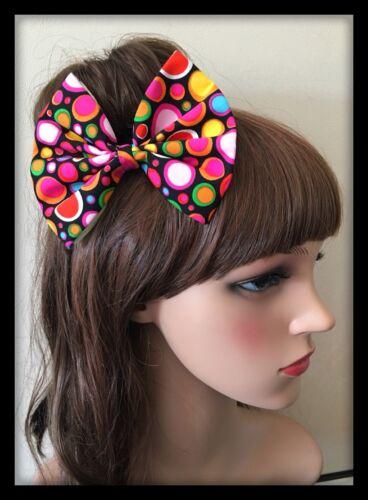 Multicoloured Bow Headband Hairband Hair Tie Band Hippy Floral Print Fabric 80