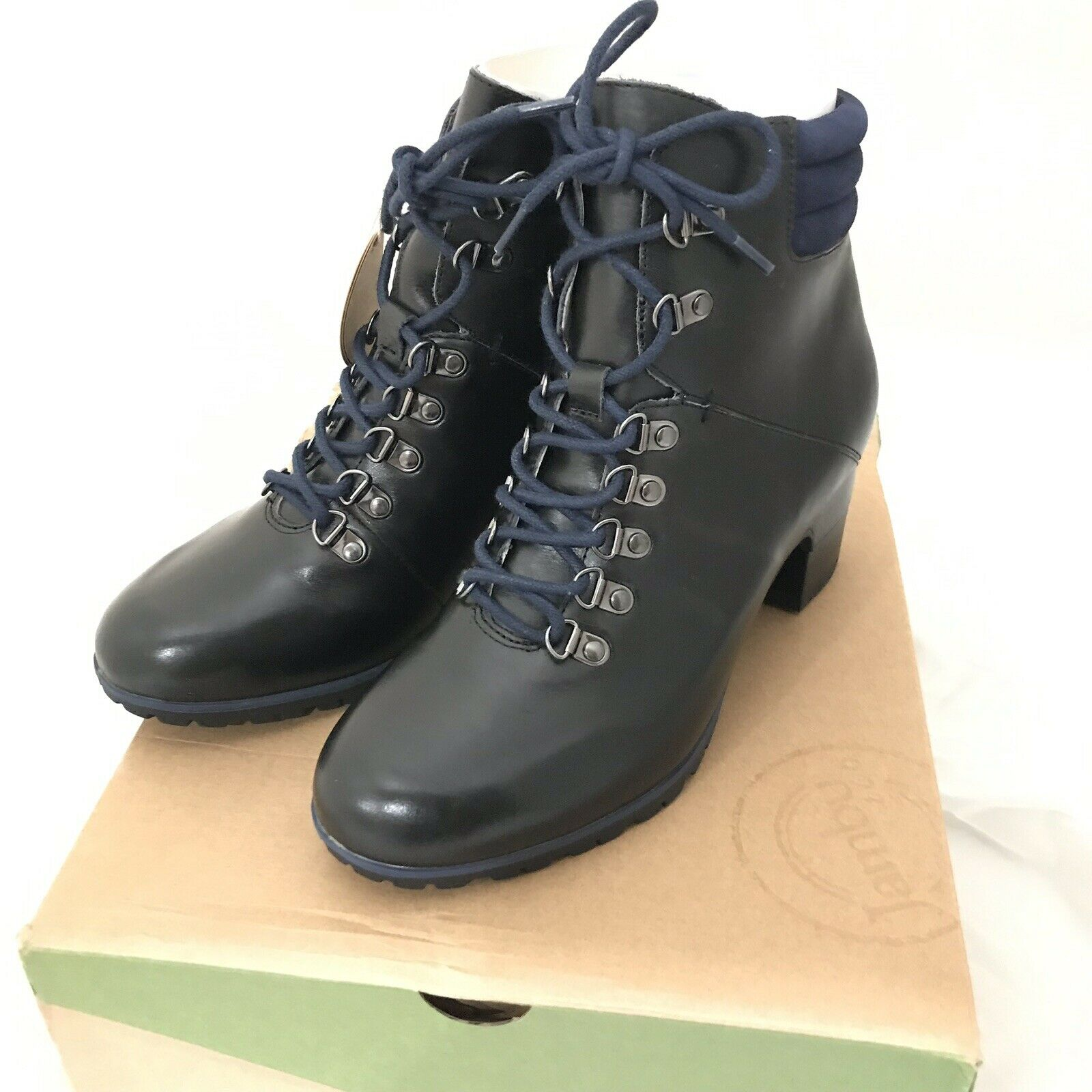 NEW Jambu Womens Burch Water Resistant Ankle Bootie Lace Up Midnight bluee 9.5 M