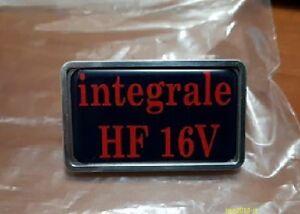 Lancia-Delta-HF-Integrale-16-Ventile-Badge-Emblem-Logo-Platte-Verkleidung