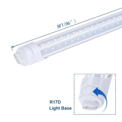 4//25Pack 8FT LED Tube Light 65W T8 Shop Light R17D V Shaped Fluorescent 6500K