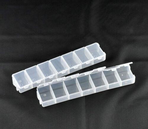 BOX mit Deckel 7 Fächer Aufbewahrung Perlen Sortierbox für Rocailles Sammelbox #