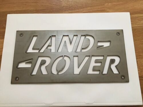 Metal Land Rover Logo Sign Silhouette Steel