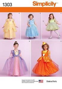 Simplicity-Patron-Couture-Enfants-en-Bas-Age-amp-Costumes-Princesse-Fee-1-2-6-1303