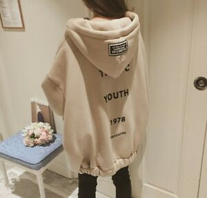 Women-039-s-Autumn-Winter-Cardigan-Coat-Loose-Long-Section-Plus-Velvet-Thick-Sweater