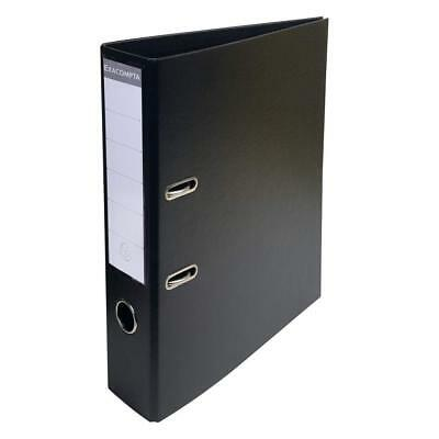 Exacompta PremTouch PVC Lever Arch File A4 2 Ring Black 50mm spine