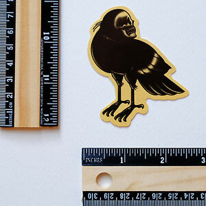 """#2843 Crow Dead Old School Vintage Tattoo Style Drawing Art 2.5/"""" Decal sticker"""